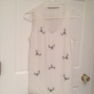 Guess Sleeveless Blouse with Rhinestones/Crystals